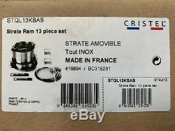 Cristel Strate 12-pièces Inoxydable Batterie De Cuisine