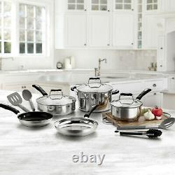 Cuisinart 12-piece Cookware Set Pots En Acier Inoxydable Et Casseroles Tout Nouveau Set Save