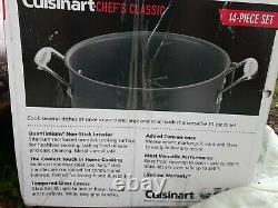 Cuisinart 14 Pièces Chef Classique En Aluminium Anodisé Dur Ensemble De Produits De Cuisine Non Incrustés