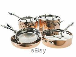 Cuisinart 40571-9993c, Tri-ply 8 Pièce En Cuivre Batterie De Cuisine