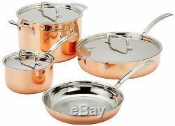 Cuisinart Ctp-cuivre 7 Heures Tri-ply En Acier Inoxydable 7 Pièces Batterie De Cuisine
