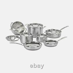 Cuisinart Multiclad Pro Stainless Steel 12 Piece Cookware Set Mcp-12n Open Box