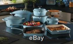 Cuisine Batterie De Cuisine En Fonte 8 Piece Set Par Les Cuisiniers Professionnels Bleu
