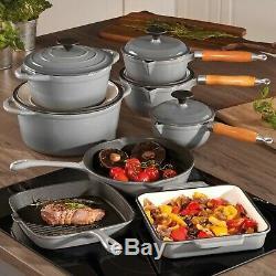 Cuisine Batterie De Cuisine Professionnelle Moulage Fer Pan Skillet Casserole Vaisselle 3 Ou 5 Pièces Ensemble