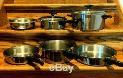 Cuisine Craft 3 En Acier Inoxydable Ply Alliage Spécial Batterie De Cuisine 8 Pièces