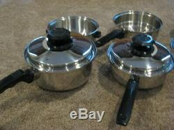 Cuisine Craft 5 Ply T304 Cuisine En Acier Inoxydable 10 Morceaux Made In USA Vtg