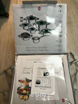 Cuisine De Cuisson Set Pots Casseroles En Acier Inoxydable Batterie De Cuisine Avec Le Verre 12 Pièces Couvercles