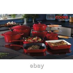 Cuisine Professionnel En Fonte Cookware Pan Skillet Saucepan Dish 8 Piece Set