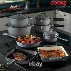 Cuisiniers Professionnel Fonte Cookware Cuisine Poêle Ensemble Four Poêle 3, 5 Ou 8pc