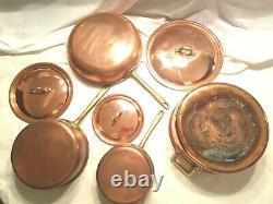 Cuivre Acier Inoxydable 7 Piece Cookware Set Pot Sauteuse Grand Poêlon Couvercle