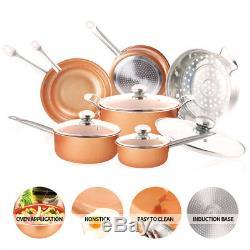 Cuivre Antiadhésives Poêle Et Ustensiles De Cuisine Et Poêle Batterie De Cuisine 11 Pièces (forts Hot)