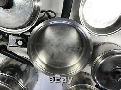 Durée De Vie Vintage 14 Set Piece 18-8 Batterie De Cuisine En Acier Inoxydable West Bend Company