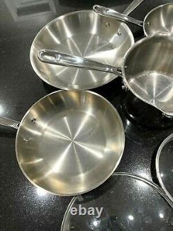 Émeril En Acier Inoxydable 7 Pièces En Cuivre Core Cookware Set Of Pans & Pots & Lids