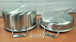 Ensemble D'articles De Cuisine 7 Pièces En Acier Inoxydable Brossé Tout-plaqué Sauce À Frire Sauce Saute Pan Stock Pot