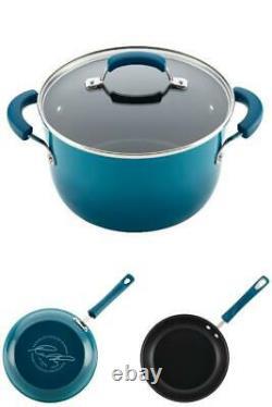 Ensemble D'articles De Cuisine Antiadhésif En Aluminium 15 Piece Pots Pans Cuisine Cuisine Maison Bleu Nouveau
