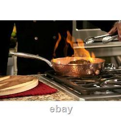 Ensemble D'articles De Cuisine En Acier Gotham Four Antiadhésif Ti-céramique En Cuivre Marbré 10 Pièces
