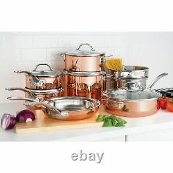Ensemble D'articles De Cuisine En Cuivre Tri-ply Viking 13 Pièces Chef Professionnel Cuisine À La Maison