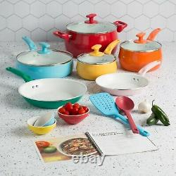 Ensemble D'articles De Cuisine Non-adhésif Intérieur Céramique Pots De Cuisine Poêles Lave-vaisselle 16 Pièces Nouveau
