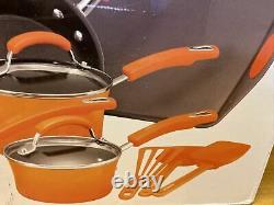 Ensemble D'articles De Cuisine Rachel Ray Pots À 14 Pièces Pans Cuisine Non-classique Émail Dur Orange