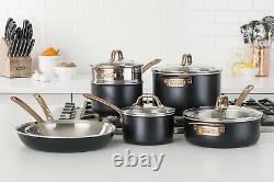 Ensemble D'articles De Cuisine Viking 3-ply Black & Cuivre 11 Pièces Nouveau