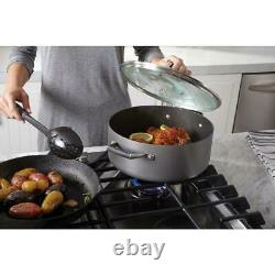 Ensemble D'ustensiles De Cuisine 10 Pièces Select Par Calphalon Hard-anodized Nonstick Pots And Pans