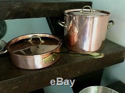 Ensemble De Casseroles Et Ustensiles De Cuisson Vintage Copper Chef