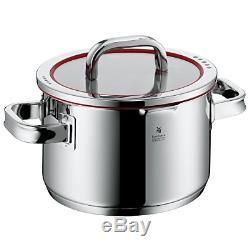 Ensemble De Casseroles Pour Batterie De Cuisine Pot 4 Pièces Wmf Function 4 Couvercle En Verre En Acier Inoxydable Cromargan