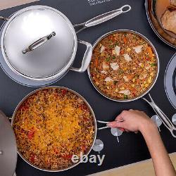 Ensemble De Cuisine En Acier Inoxydable Deco Chef 12 Pièces, Noyau Tri-ply, Poignées Rivetées