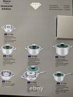 Ensemble Suisse Amc 12 Pièces En Édition Diamant Cookware