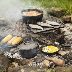 Esschert Design Sept Pièces De Cuisson Campfire Set De Cuisson Dutch Marmite Black Ff240