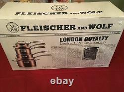 Fleischer & Wolf London Royalty 10-piece Cookware Set En Cuivre