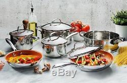 Gotham Acier Chef Professionnel En Acier Inoxydable À Revêtement Antiadhésif 10 Pièces Batterie De Cuisine