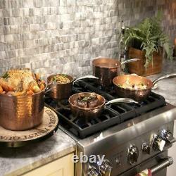 Gotham Steel 5 Piece Hammered Nonstick Copper Cookware Set No Stick No Oil New
