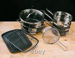 Granite Stone 15 Piece All In One Kitchen, Nonstick Cookware & Bakeware Set, Nouveau