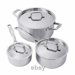 J. A. Henckels International 10 Pièces Tri-ply Real Clad Stainless Cookware Set