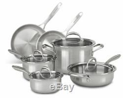 Kitchenaid 10 Pièces De Cuivre De Base Batterie De Cuisine
