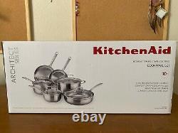 Kitchenaid En Acier Inoxydable 10 Pièces Ensemble D'articles De Cuisine