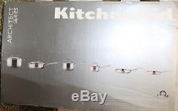 Kitchenaid Inoxydable Tri-ply En Acier 10 Pièces Batterie De Cuisine, Kcgts10sx