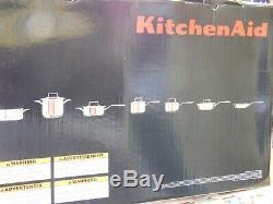 Kitchenaid Tri-ply Cuivre 12 Pièces Batterie De Cuisine, Kc2ps12cp