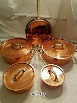 Laiton Nickel Cuivre 9 Piece Cookware Set Pot Saute Poêle À Frire Gailstyn Sutton