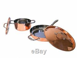 Le Chef 5 Couches De Cuivre 4 Pièces Batterie De Cuisine Avec Couvercle En Cuivre, Super Vente