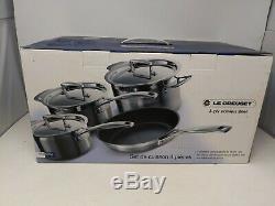 Le Creuset 3 -ply En Acier Inoxydable Non-stick 4 Piece Cookware Set, New & Boxed