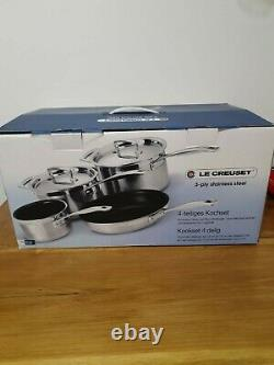 Le Creuset 3 -ply Stainless Steel Non-stick 4 Piece Cookware Set