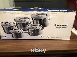 Le Creuset 5 Piece Cookware Pan Pot Set Garantie À Vie En Acier Inoxydable 3-ply