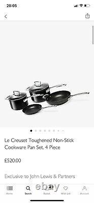 Le Creuset Set D'articles De Cuisine Antiadhésif Trempé 4 Pièces Rrp 520 £