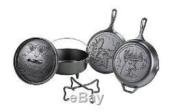 Lodge Cast Iron Wildlife Series 5 Pièces Batterie De Cuisine