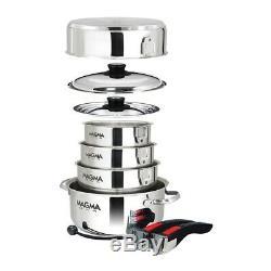 Magma Emboîtables 10 Piece S. S. Batterie De Cuisine A10-360l
