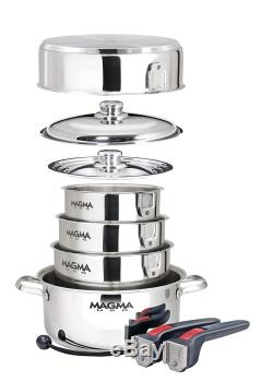 Magma Nesting 10 Piece S. S. Batterie De Cuisine