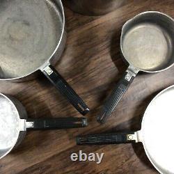 Magnalite Double Joint En Aluminium Moulé Vintage Poêle À Frire Saucepan 9 Pièce