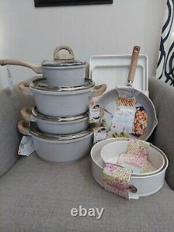 Masterclass 13 Pièces Premium Articles De Cuisine/bakeware Set Speckled Beige/grey Bnwt